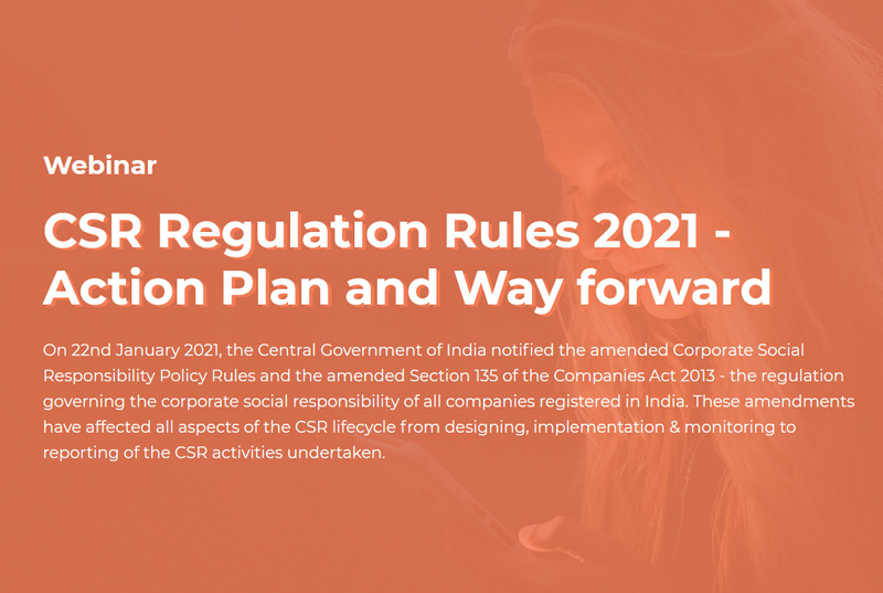 CSR Regulation Rules 2021 – Action Plan and Way forward