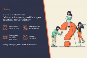 """Virtual volunteering and Employee donations for Covid relief"" is locked Virtual volunteering and Employee donations for Covid relief"