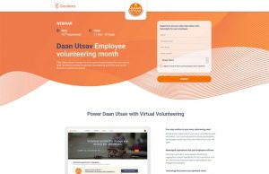 Daan Utsav Employee volunteering month