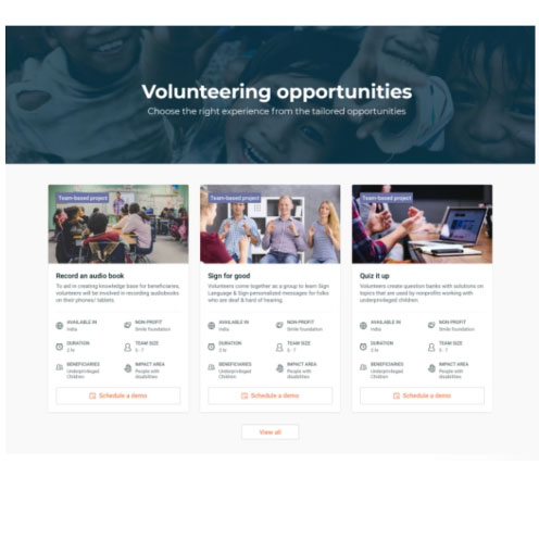 Goodera will curate the right opportunities for you