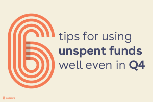 6 Tips for using unspent funds well even in Q4