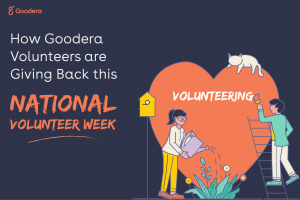 How Goodera Volunteers are Giving Back this National Volunteer Week